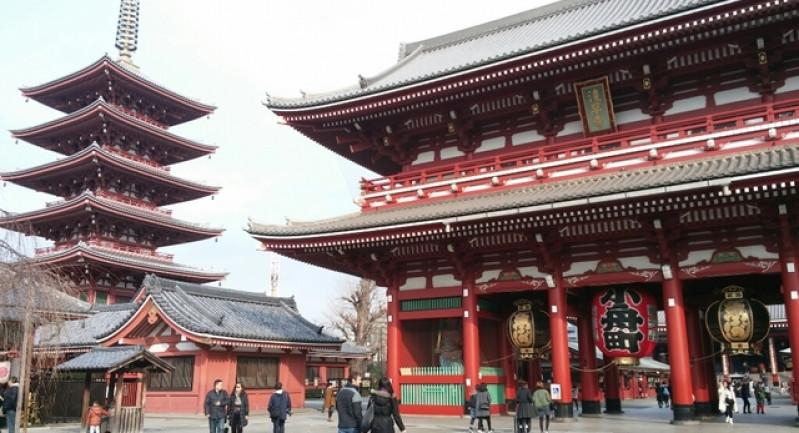 Kết quả hình ảnh cho Ngôi chùa cổ Asakusa Kannon