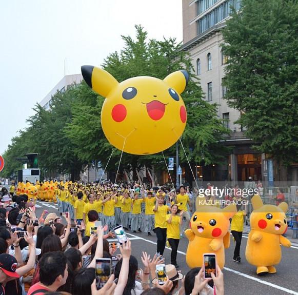 Pikachu Nhật Bản diễu hành cực đáng yêu ở Yokohama